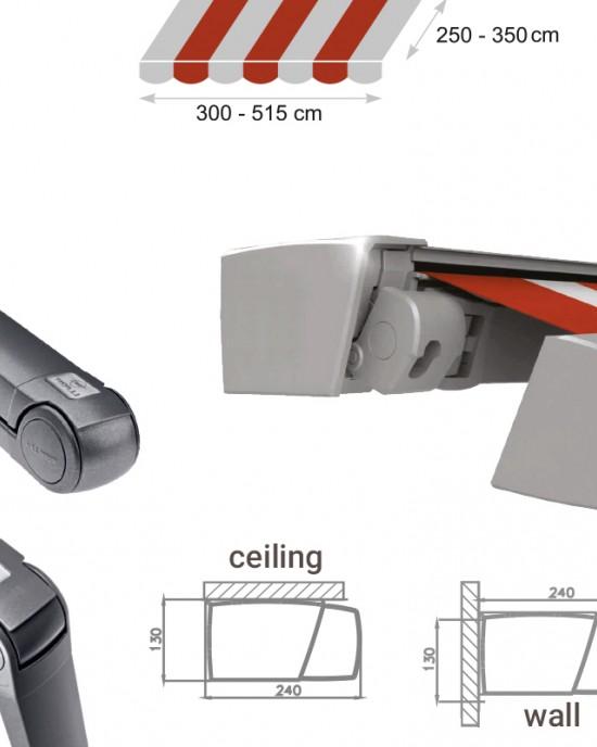Solar ( Sun ) protection systems -> Awnings MODERNO MOL   ZALUZI.lv