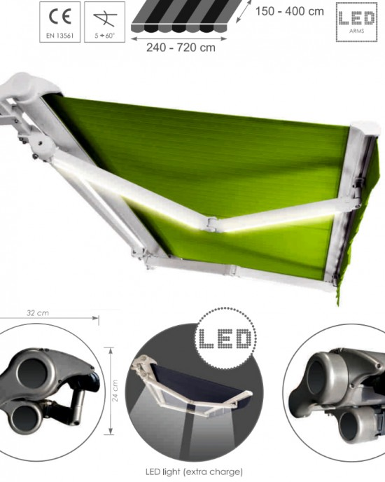 Solar ( Sun ) protection systems -> Awnings ADAGIO MOL   ZALUZI.lv